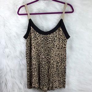 Kardashian Kollection tank shirt leopard print L😍